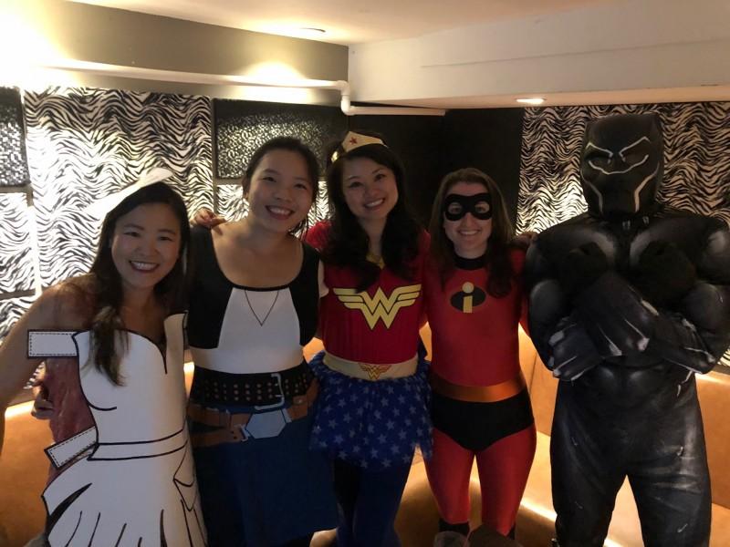 Halloween karaoke with friends