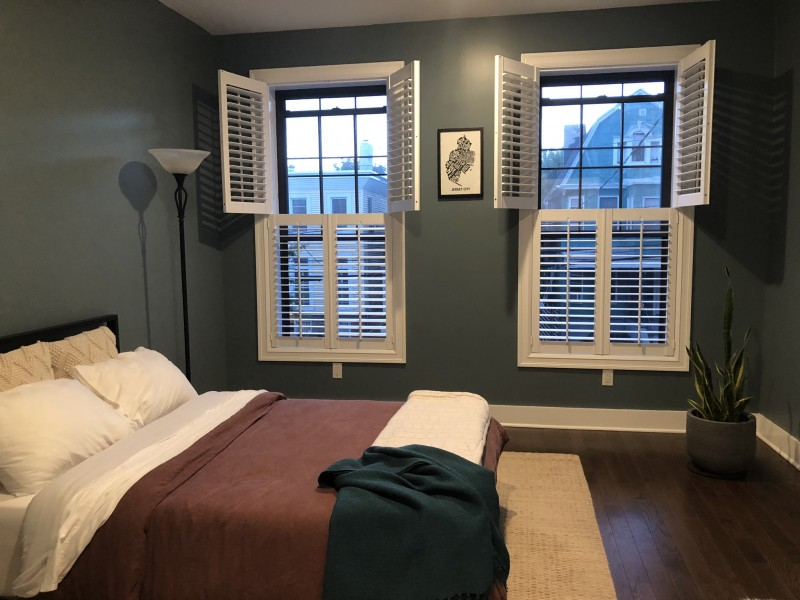 Our very zen guestroom where friends and family stay