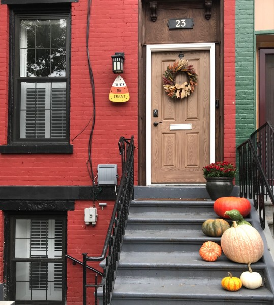 We love to decorate. Here is our home at Halloween.