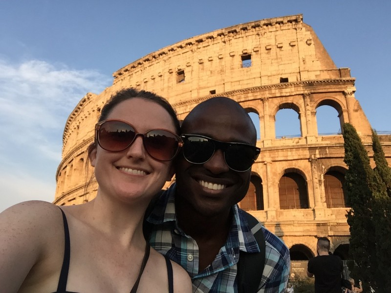 We love to travel - here we are in Rome