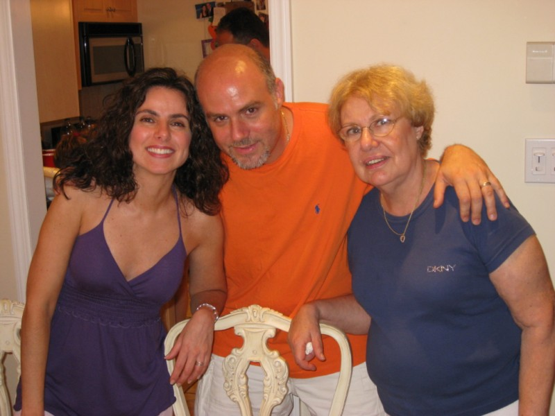Nicole with mom & brother