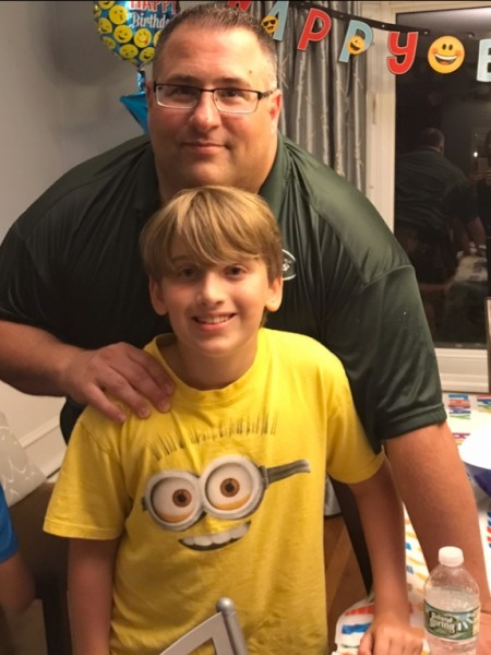 Rich with his nephew Jonathan