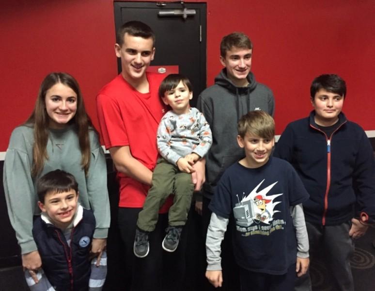 Birthday fun with RJ & his cousins