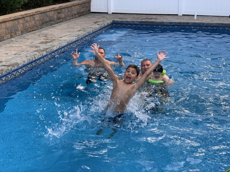 Fun pool days with friends
