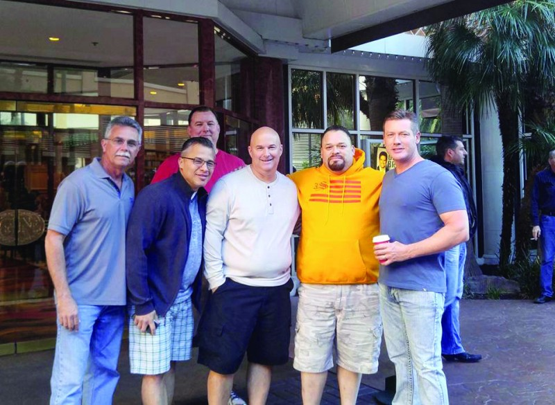 Reuniting with Marine Corp friends in Las Vegas