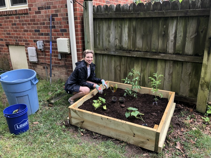 Ryan and I built our first raised garden bed