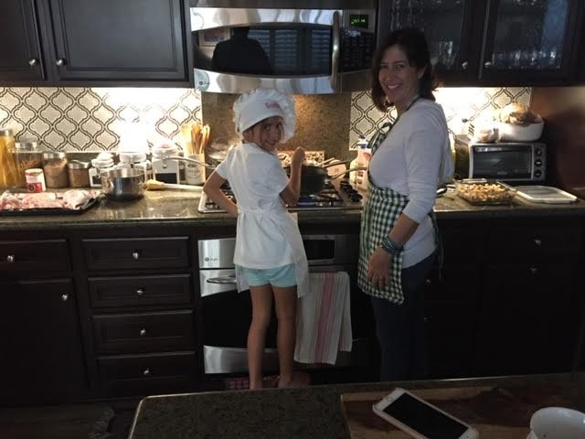 Helping Mama cook and bake
