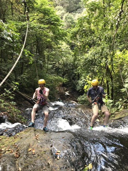 Zip lining while on vacation. We are always up for an adventure!