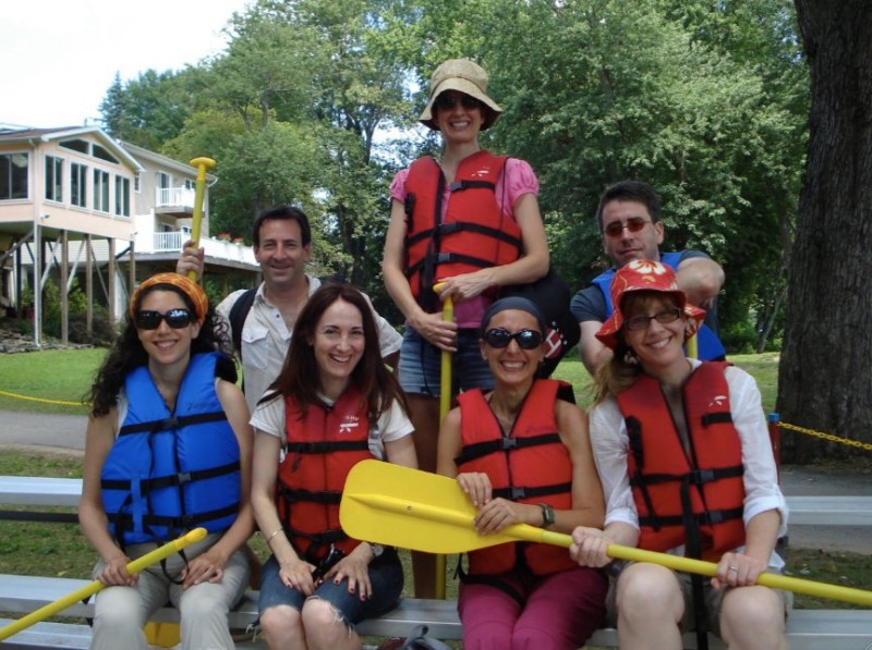 Kayaking with friends on Delaware