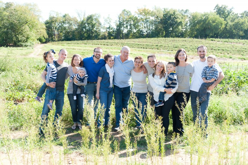 Amanda's family owns and operates a 6-generation family farm. Since this picture was taken, four more kids have been added to the bunch!