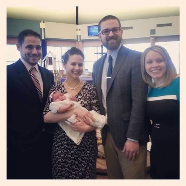 At our goddaughter's baptism.