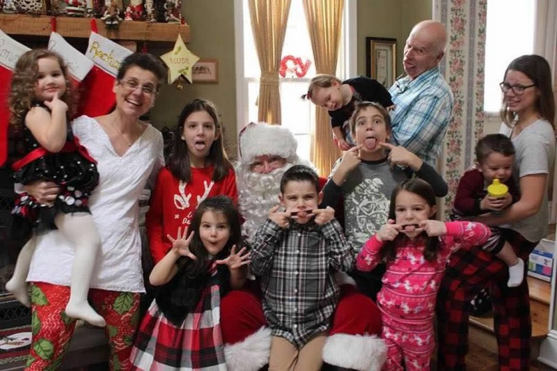 Amanda's parents are the best babysitters! They love spending time with their 8 grandchildren.
