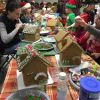 Our favorite family tradition is decorating gingerbread houses at Christmastime!