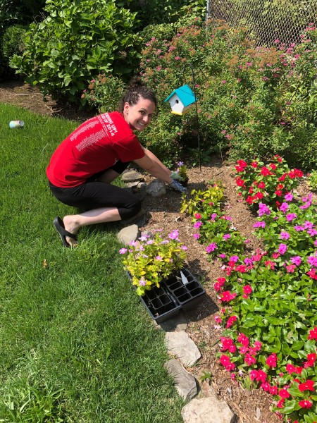 Coming from a farming family, Amanda loves planting around the house!