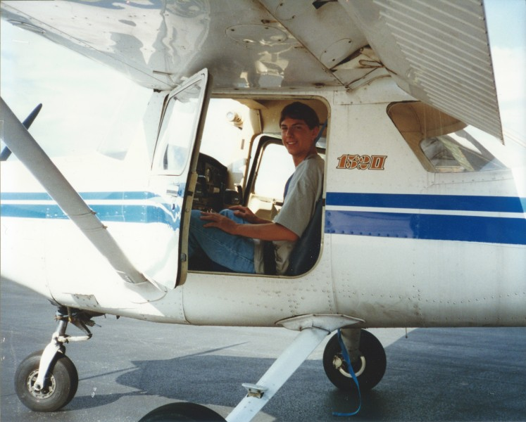 First solo flight...only 15 years old