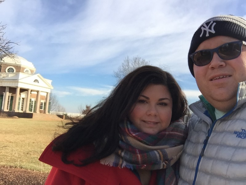 One of our favorite past times is visiting musems and historic sites here we are at Monticello