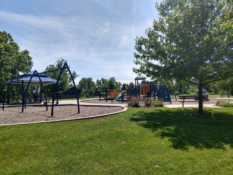 We can't wait to bring our child to this cute little playground!
