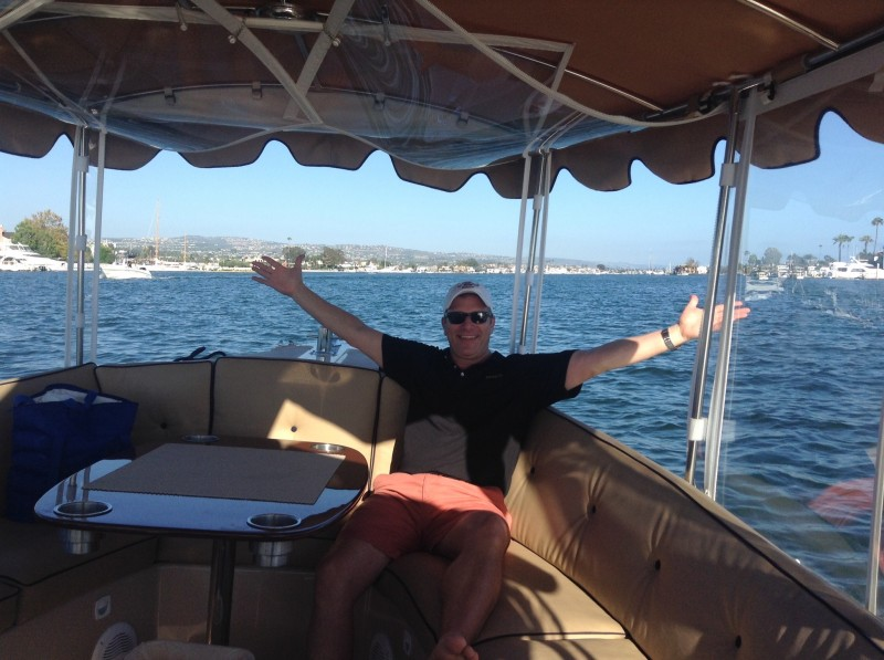 On board a Duffy Boat - no place like being on the water!