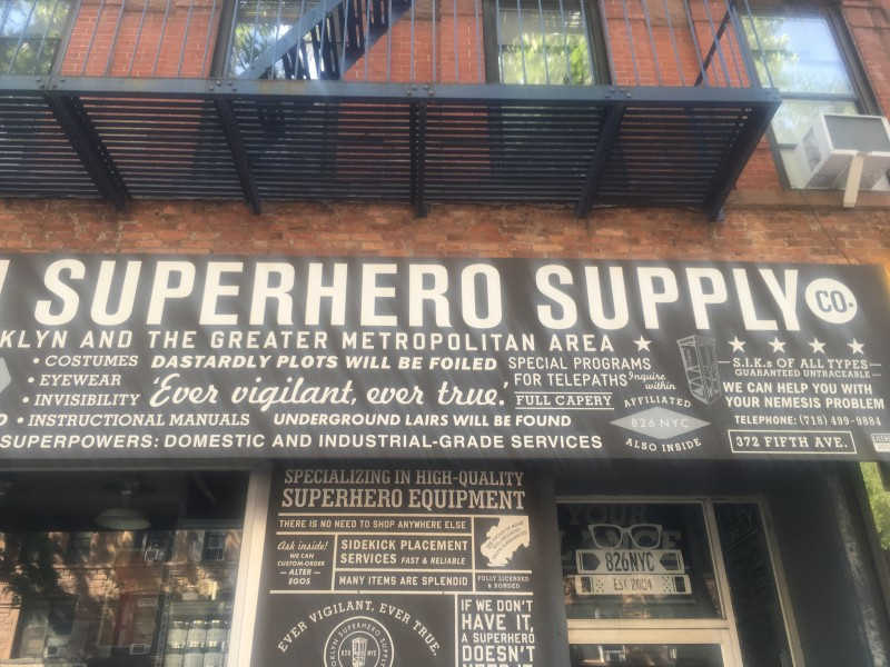 After lunch walking with a friend and we came upon this - never knew where superheros got their supplies.  Now I know it's in Brooklyn (lol)