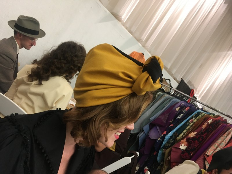 At Manhattan Vintage Show - Lots of ladies dressed as if World War 2 had just ended, very authentic