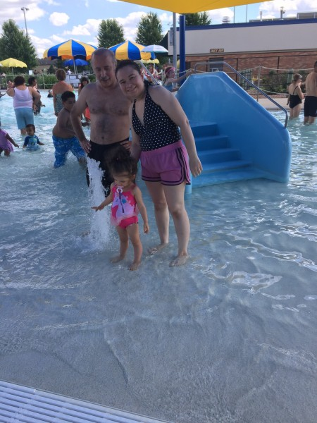 One of our favorite things to do in Summer! Our daughter loves to play in the water...