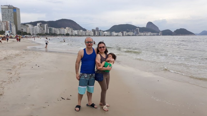 The famous Copacabana beach