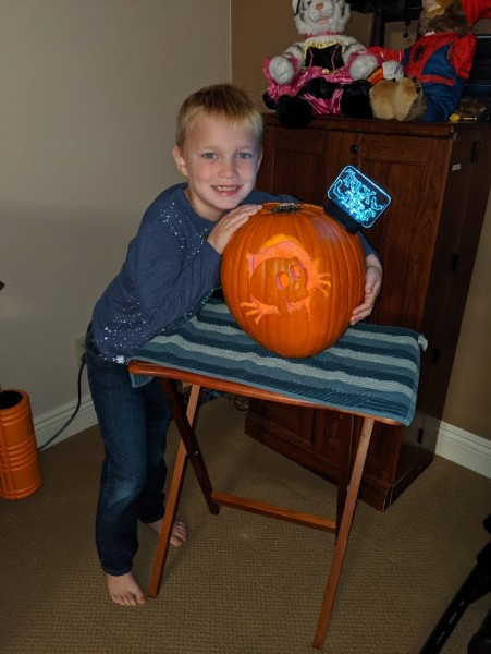 Alex and his pumpkin