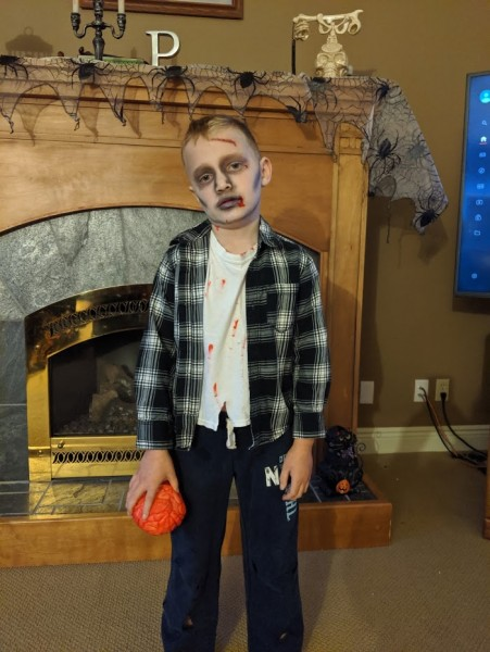 Our little zombie!
