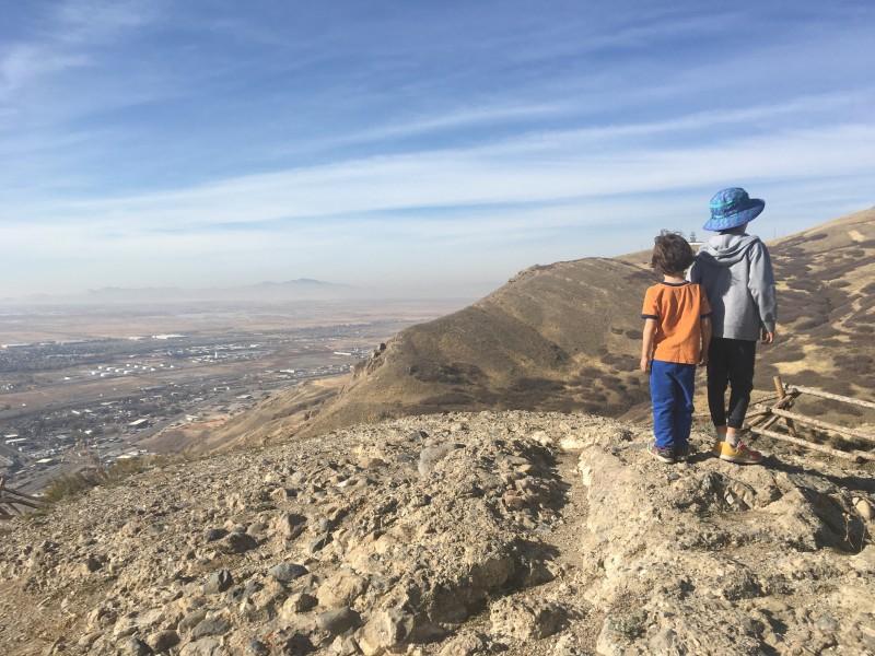 Hiking Ensign Peak