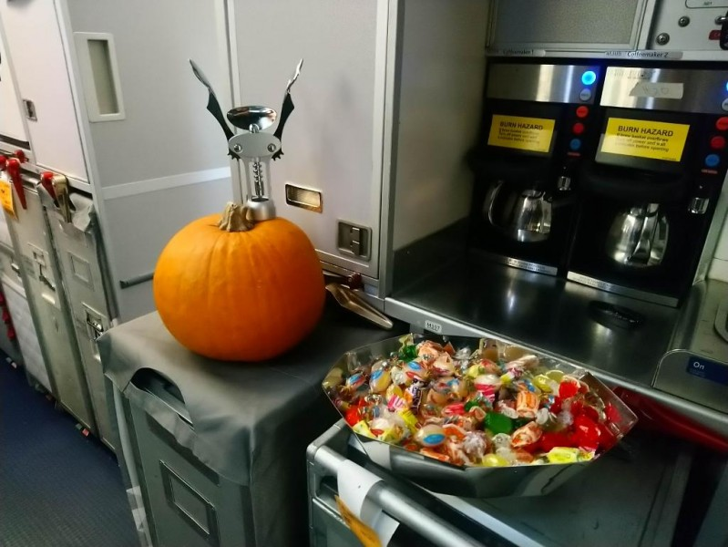 Flight Attendant Eric got creative on his plan to carve his pumpkin!