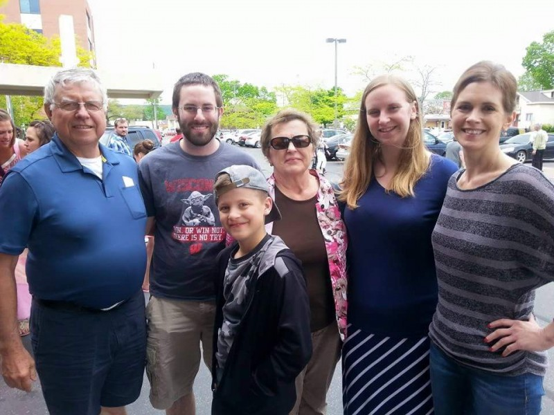 With Craig's family after our nephews dance recital