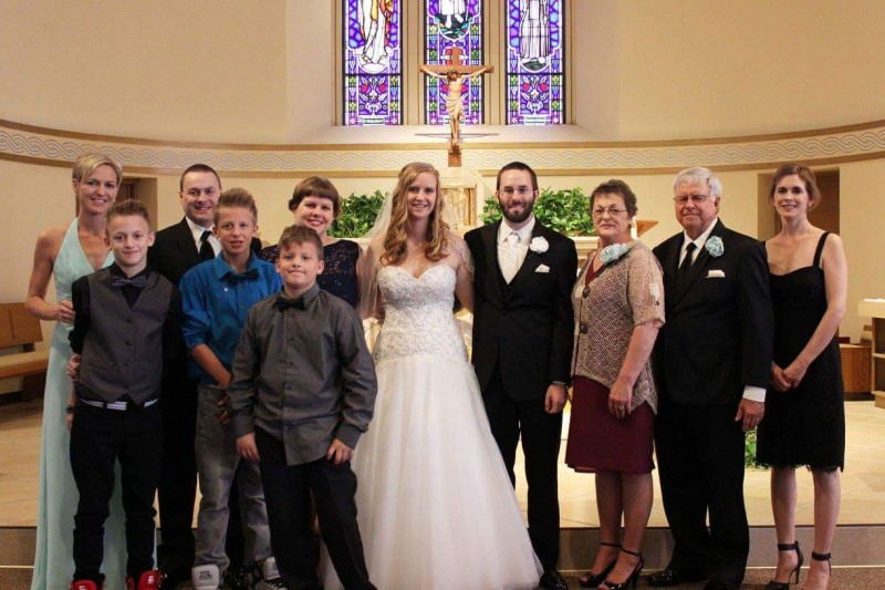 Maria and Craig with Craig's family