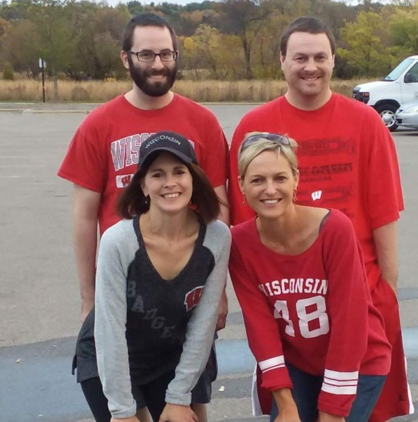 Craig and his siblings before the big Badger game!