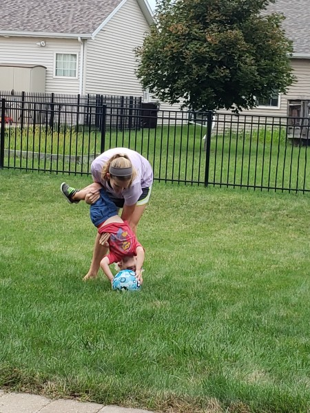 Playing in our backyard