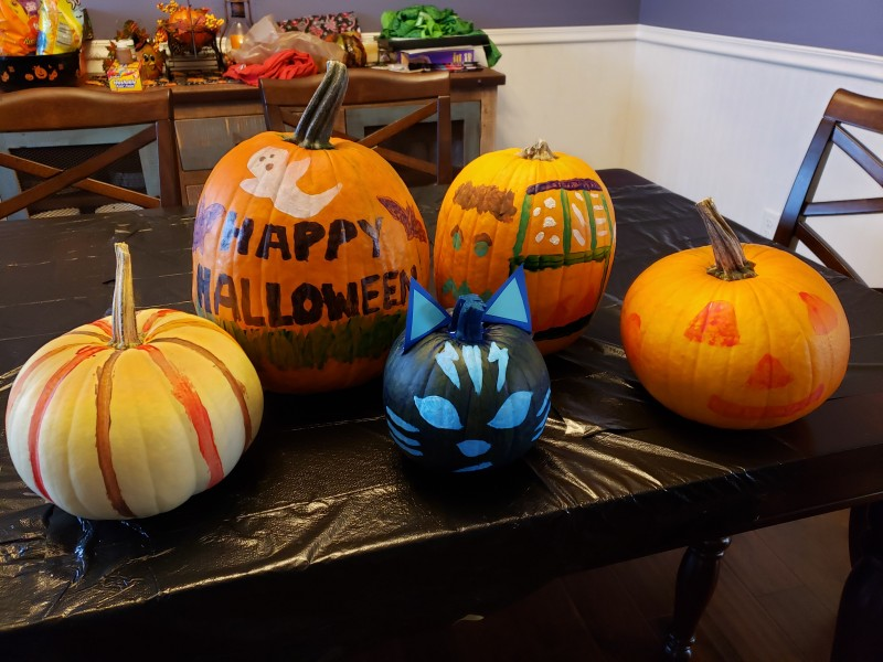 Another tradition of decorating pumpkins