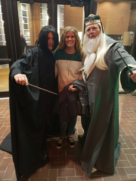 I love Harry Potter--Pictured with Prof. Dumbledore and Prof. Snape