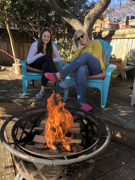 Sara and Kam enjoy a day fire!