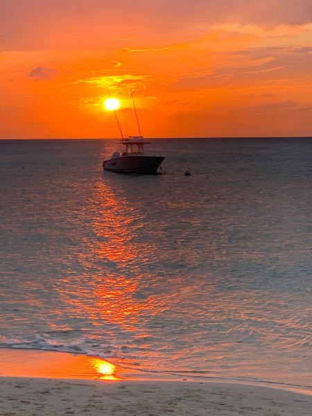 Beautiful Caribbean sunset