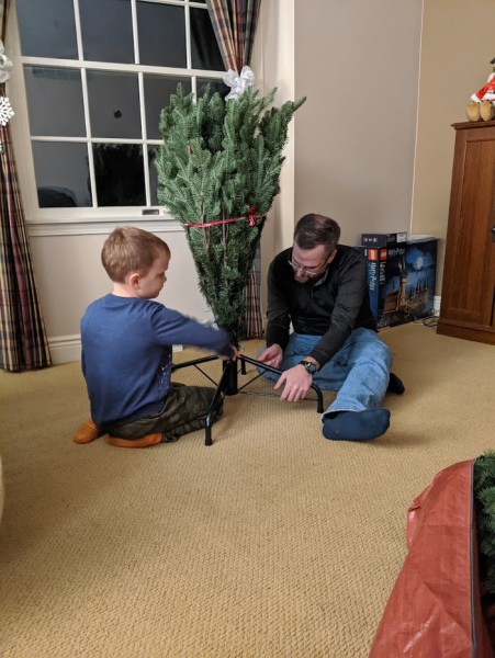 Putting up our new tree