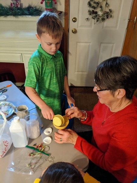 Craft with grandma