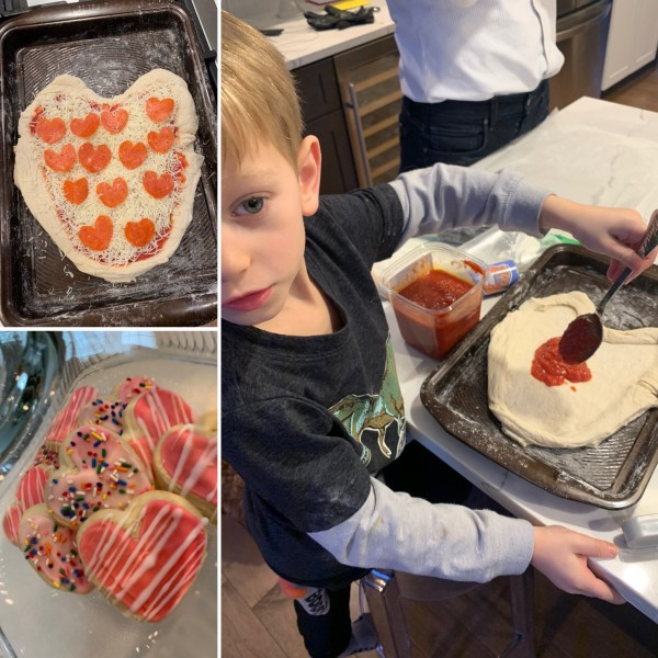 Valentine's Cookies and Pizza