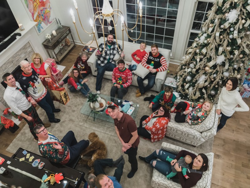 Ugly Sweater Party with Family