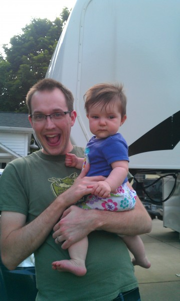 Zach with our niece, Olivia.