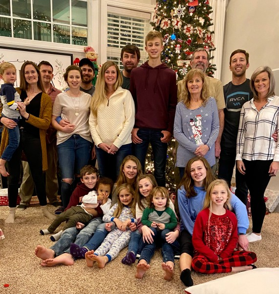 Cara's immediate family. All 20 of us together for Christmas!