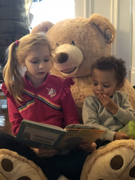 Russell and cousin Kendall doing some reading!