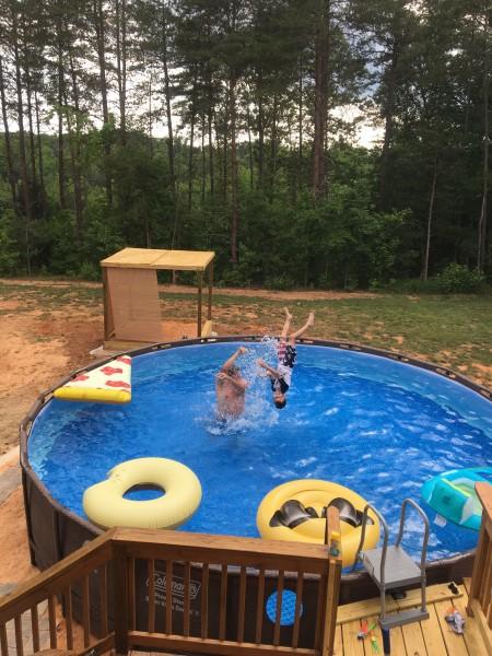 Back yard swimming