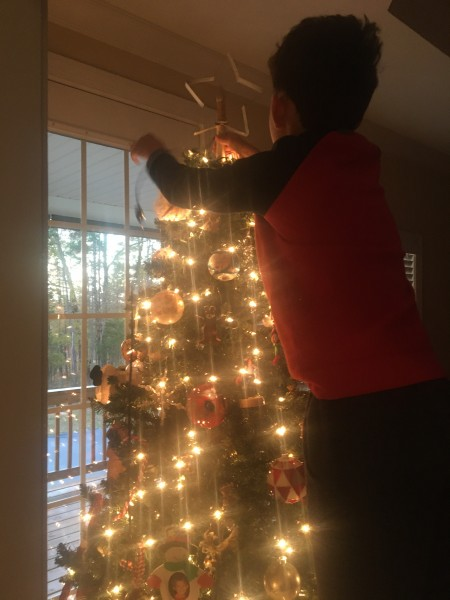 Decorating the indoor tree