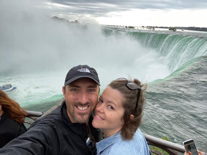 Visiting the Canadian side of Niagara Falls!
