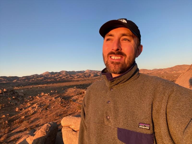 Matt awake with the sunset in Joshua Tree, California!