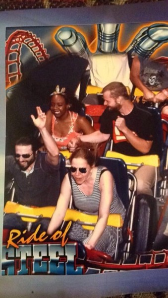 We just had to buy this photo of us and our good friends at Darien Lake!